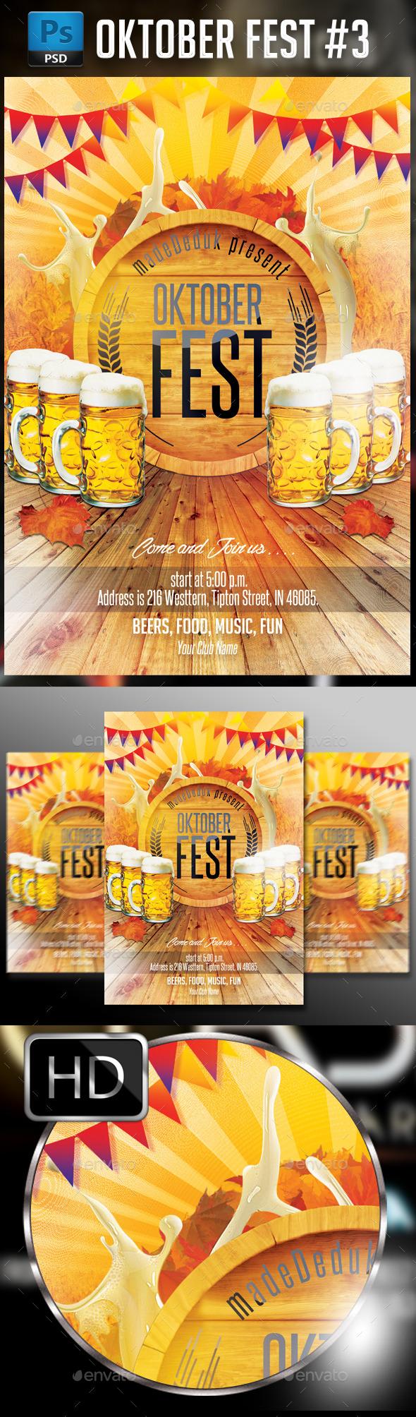 Oktober Fest #3 - Events Flyers