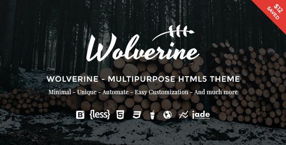 Wolverine – Multipurpose HTML5 Template