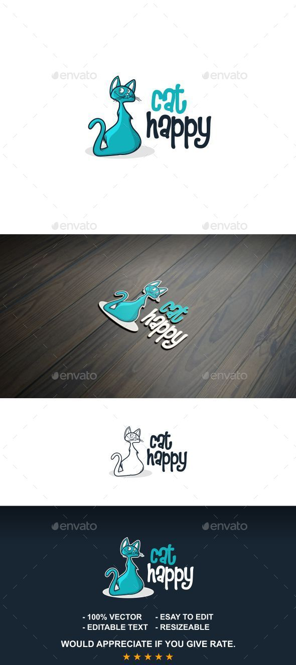 Happy Cat - Letters Logo Templates