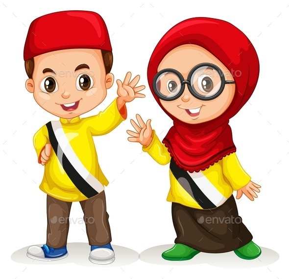 Boy and Girl From Brunei - People Characters