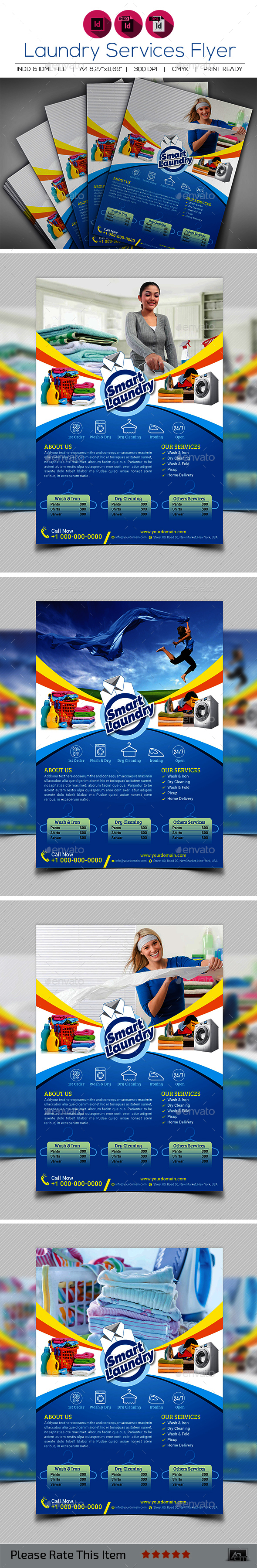 Laundry Service Flyer Template V3