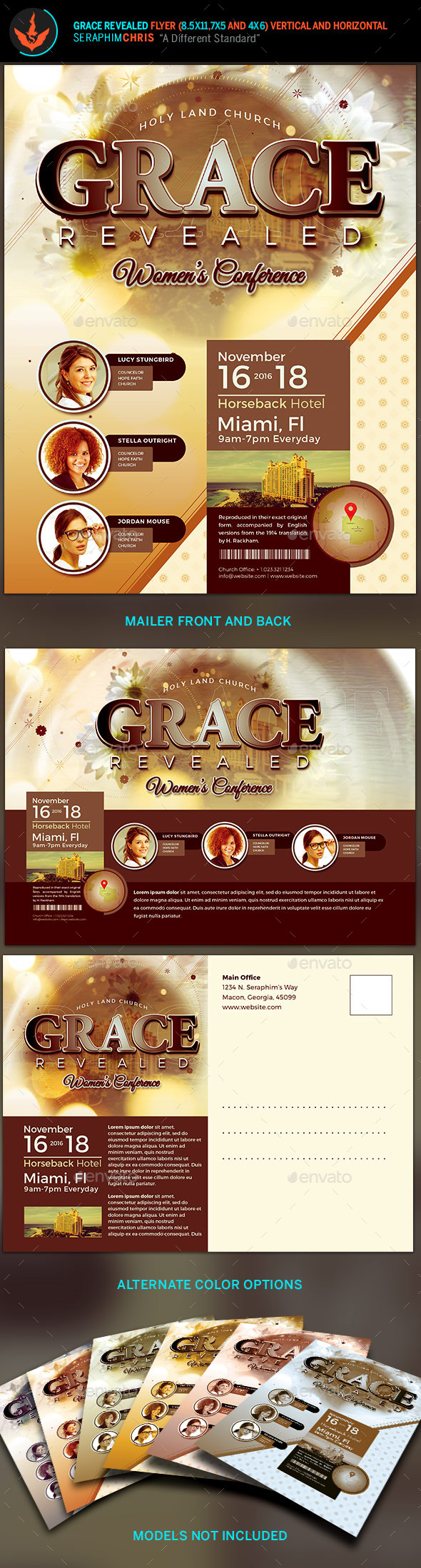 Grace Revealed: Church Flyer Template - Church Flyers