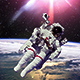 Astronaut In Outer Space Against Of Planet Earth - VideoHive Item for Sale