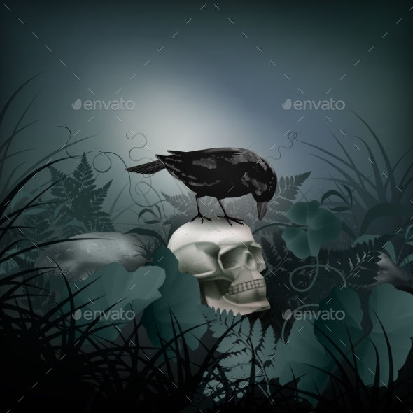 Halloween Night Scene - Halloween Seasons/Holidays