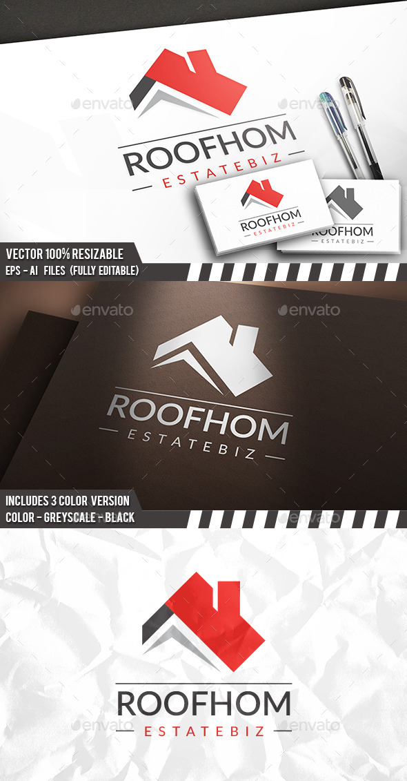 Real Estate Roof Logo - Buildings Logo Templates