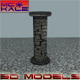 Stone Column - 3DOcean Item for Sale