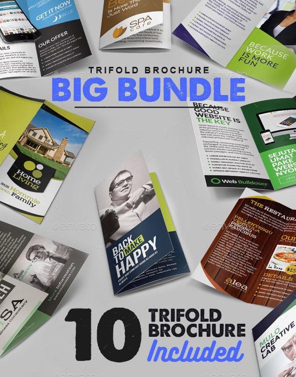 Trifold Brochure Big Bundle - Brochures Print Templates