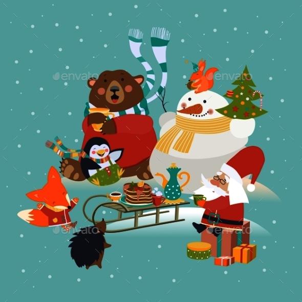 Animals Celebrating Christmas