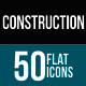 Construction Flat Multicolor Icons