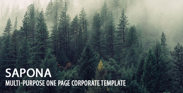 Sapona Multi-Purpose One Page Corporate Template