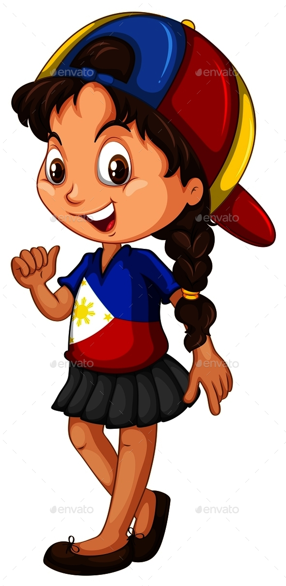 Philippines Girl Wearing a Cap - People Characters
