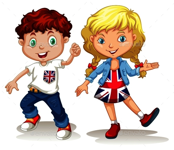 British Boy and Girl Smiling