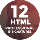 12 HTML Professional E-Signature Templates - GraphicRiver Item for Sale