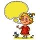 Little Girl with a Speech Bubble
