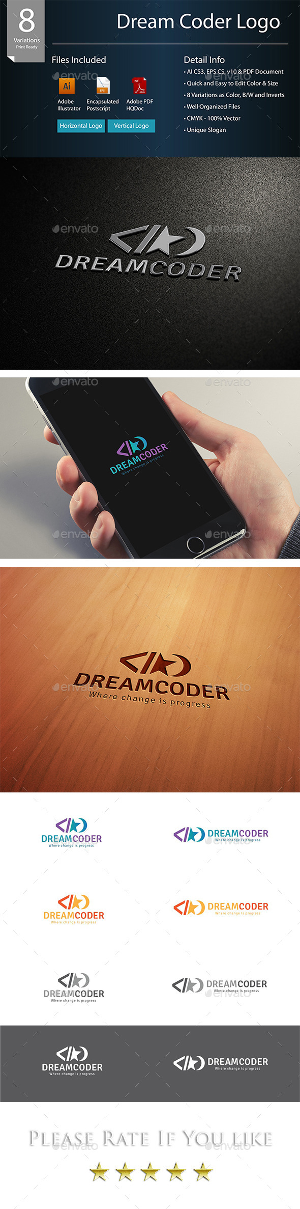 Dream Coder Logo - Symbols Logo Templates