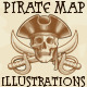 Pirate Treasure Map and Illustrations - GraphicRiver Item for Sale