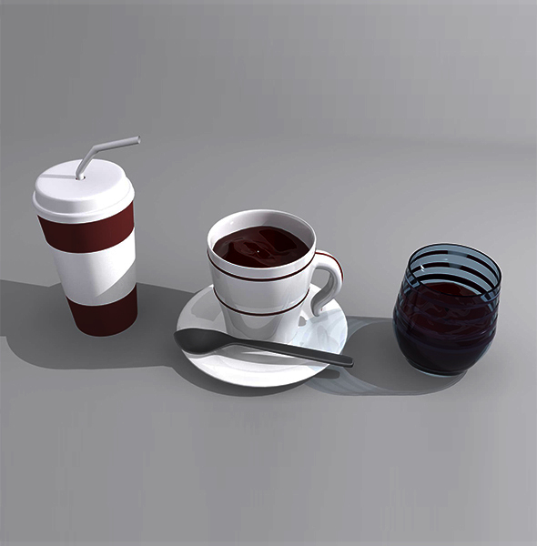 Coffe Cups and Glass Package