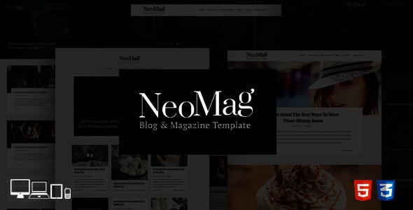 NeoMag Blog & Magazine Responsive Template