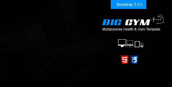Big Gym Responsive Health & Beauty Template