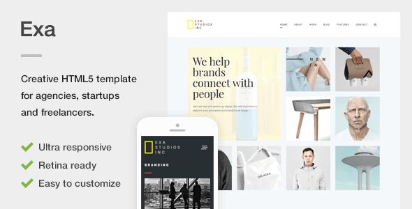 Exa - A Fresh & Creative Portfolio HTML5 Template - Portfolio Creative