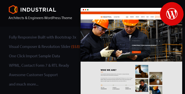 Industrial – Architects & Engineers WP Theme