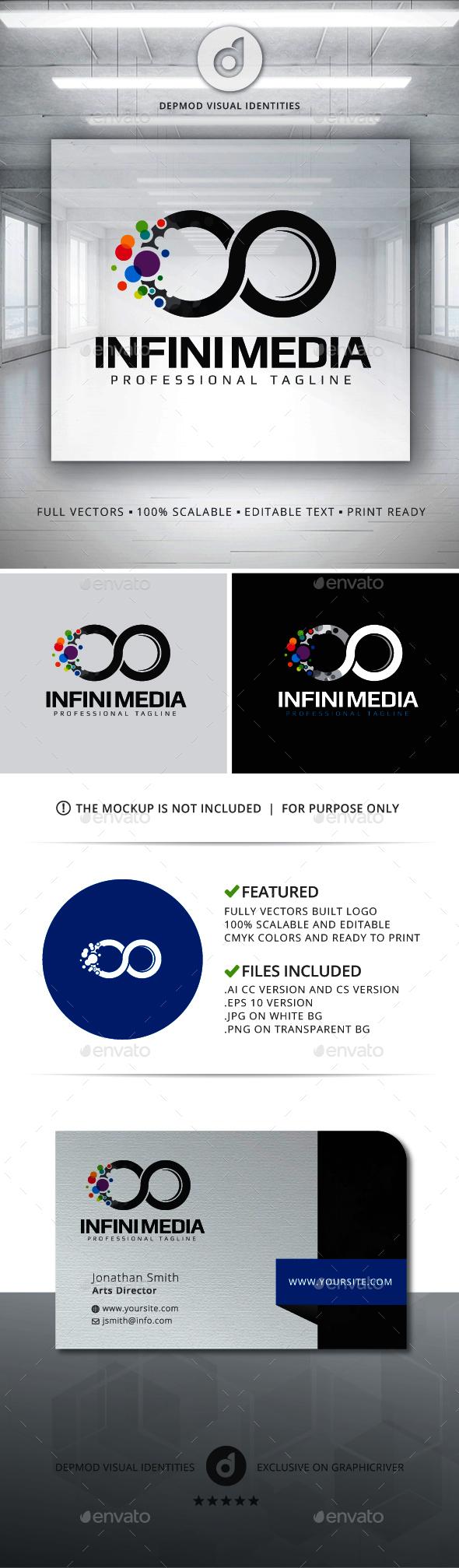 Infini Media Logo - Abstract Logo Templates