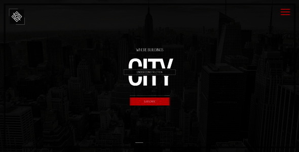 City || Responsive Coming Soon Page