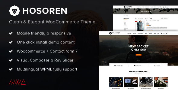 Hosoren – Clean & Elegant WooCommerce Theme