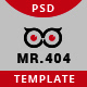 Mr.404 Error Page - GraphicRiver Item for Sale