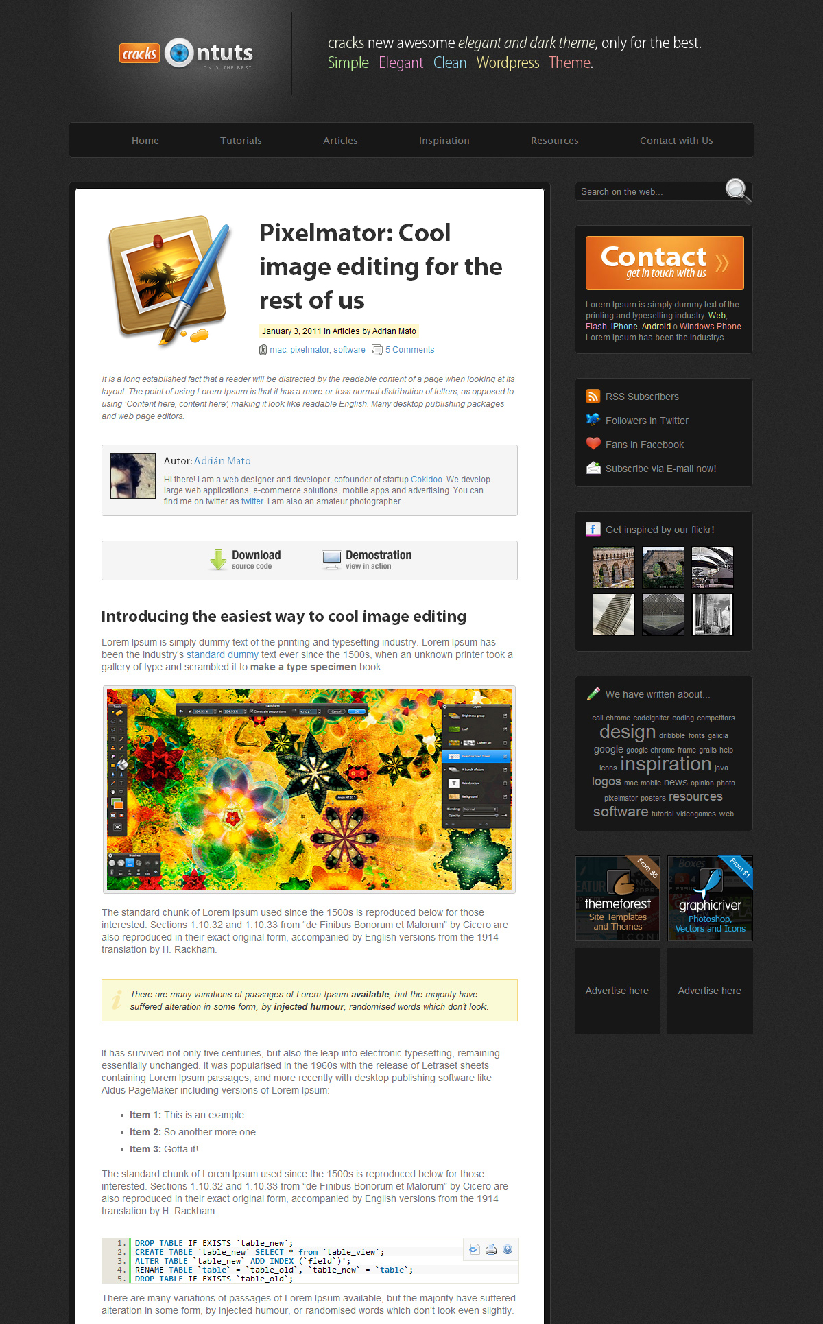 Cracks - Wordpress Community Theme by AdrianMG | ThemeForest