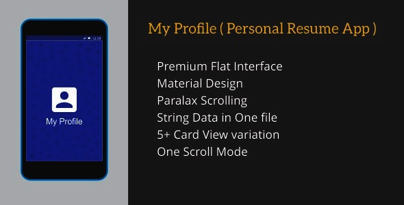 My Profile ( Personal Resume App ) - CodeCanyon Item for Sale