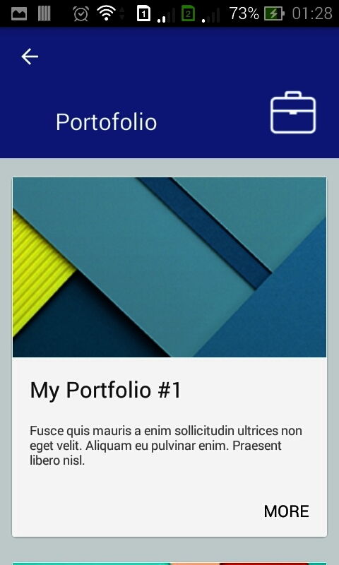 My Profile Personal Resume App by dreamspace CodeCanyon