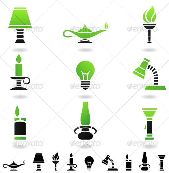 light sources - Man-made objects Objects