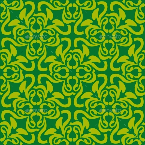 Green Seamless Pattern - Patterns Decorative