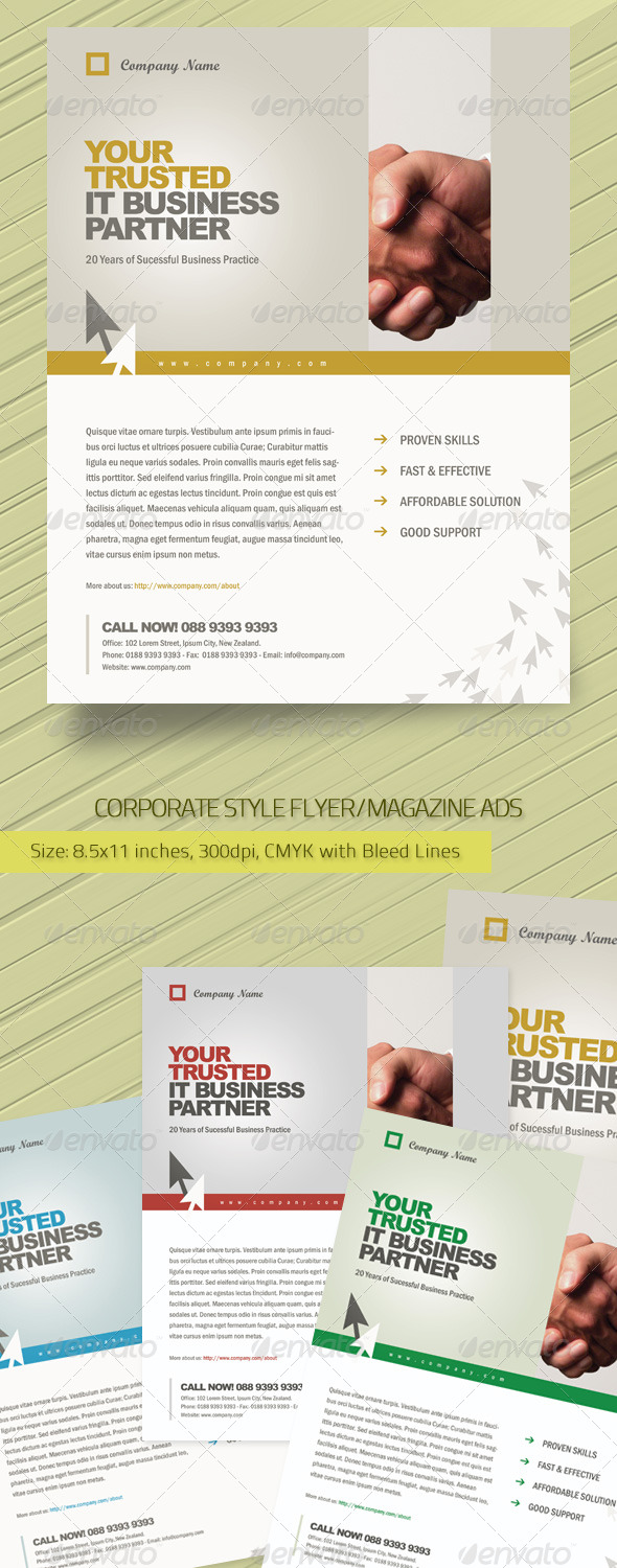 Corporate Style Flyer/Magazine Ads Template - Corporate Flyers
