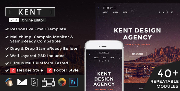 Kent – Responsive Email + StampReady Builder