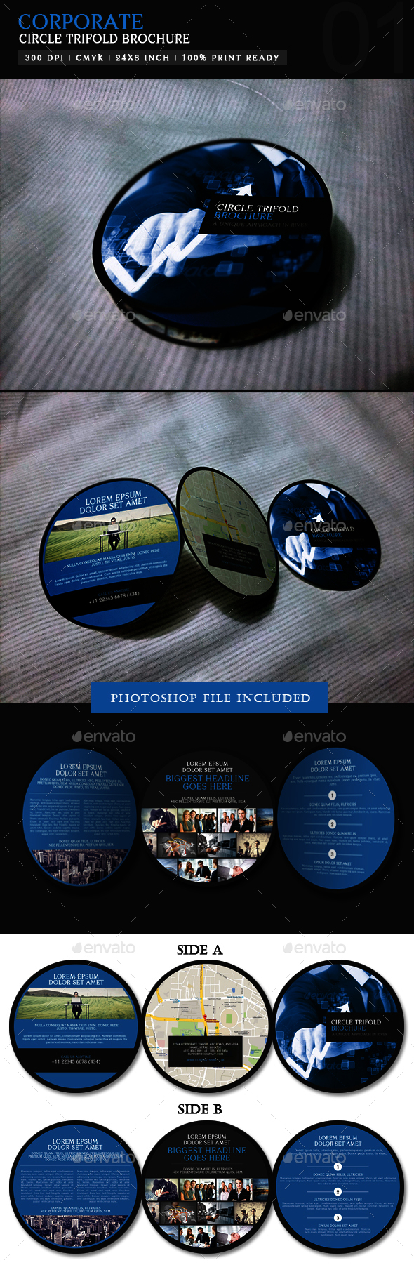 Circle Trifold Borchure 01: Corporate - Corporate Brochures