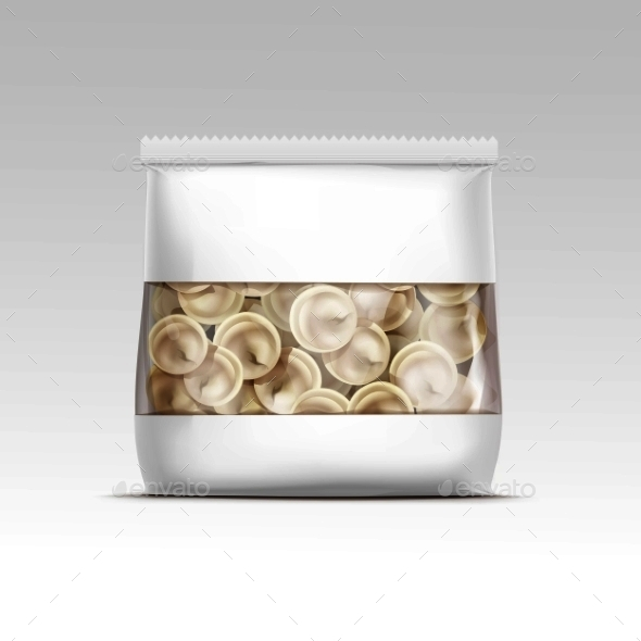 Pelmeni Meat Dumplings Ravioli Packaging - Miscellaneous Vectors