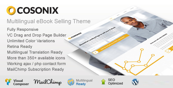 Cosonix – One Page eBook Selling Theme