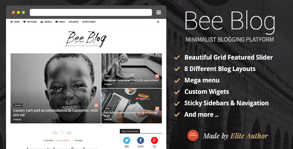 BeeBlog – A Responsive WordPress Blog Theme