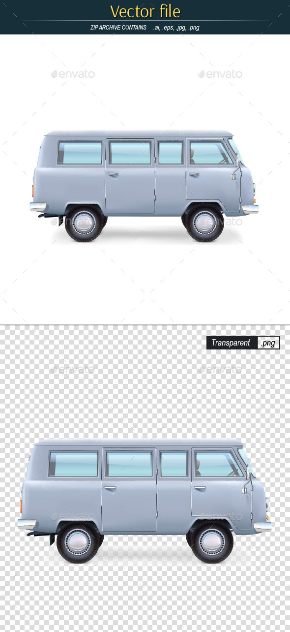 Bus Editable Vector