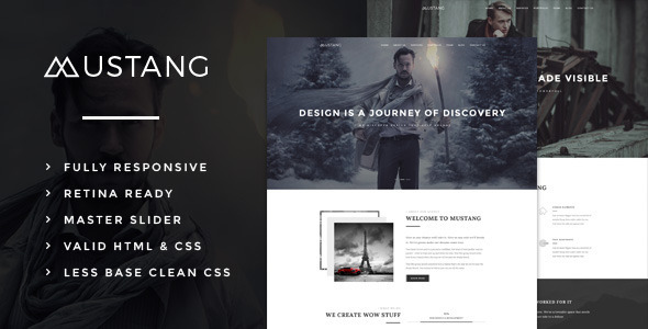 Mustang Bold & Minimal HTML5 Template