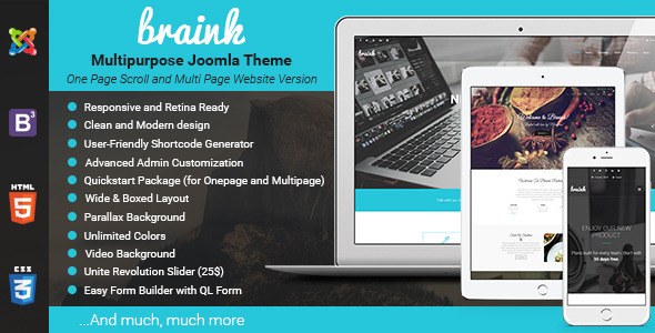 Braink – Responsive Multi-Purpose Joomla Template