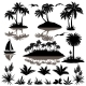 Tropical Set With Palms Silhouettes - GraphicRiver Item for Sale