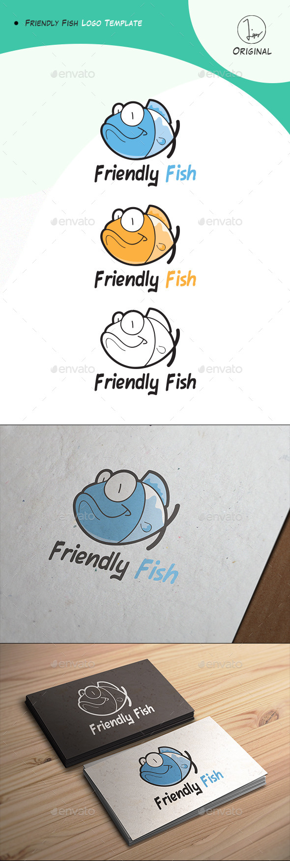 Friendly Fish Logo - Animals Logo Templates