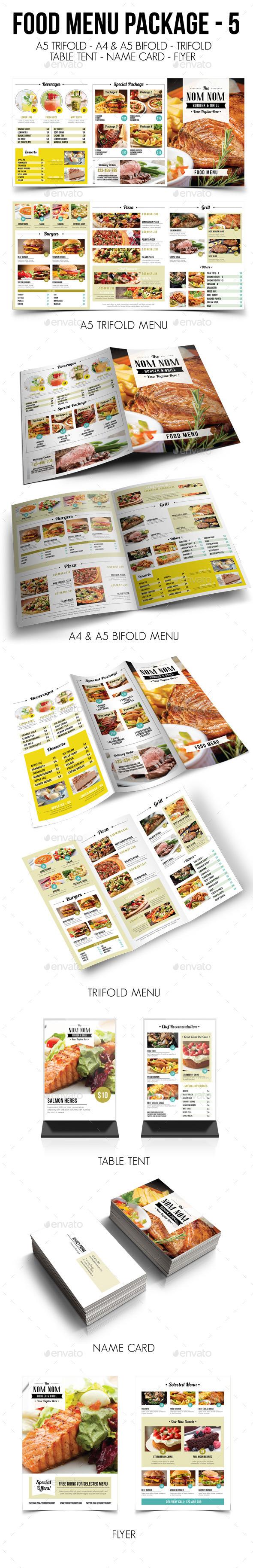 Food Menu Package 5 - Food Menus Print Templates