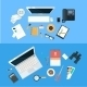 Workplace Concept. Flat Design. - GraphicRiver Item for Sale
