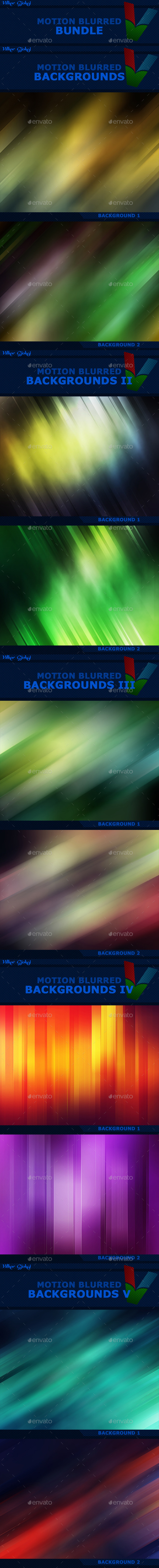 25 Motion Blurred Backgrounds BUNDLE - Abstract Backgrounds