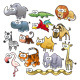 Savannah Animal Family. - GraphicRiver Item for Sale
