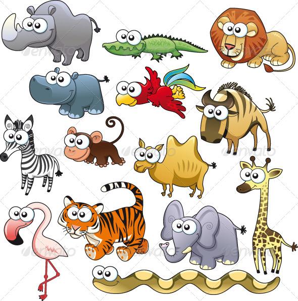 Savannah Animal Family. - Characters Vectors